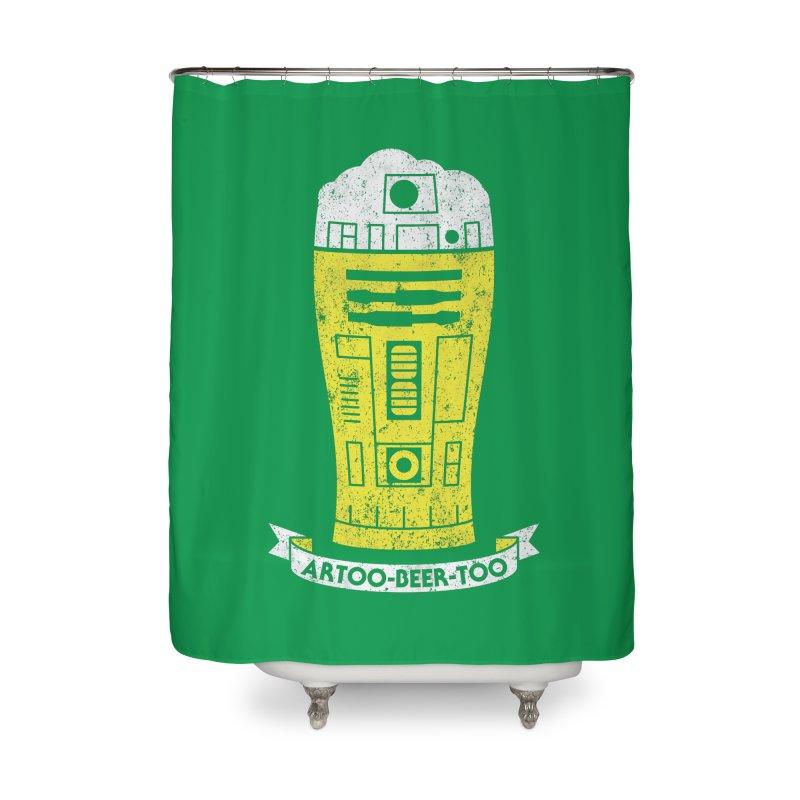 Artoo-Beer-Too Home Shower Curtain by monsieurgordon's Artist Shop