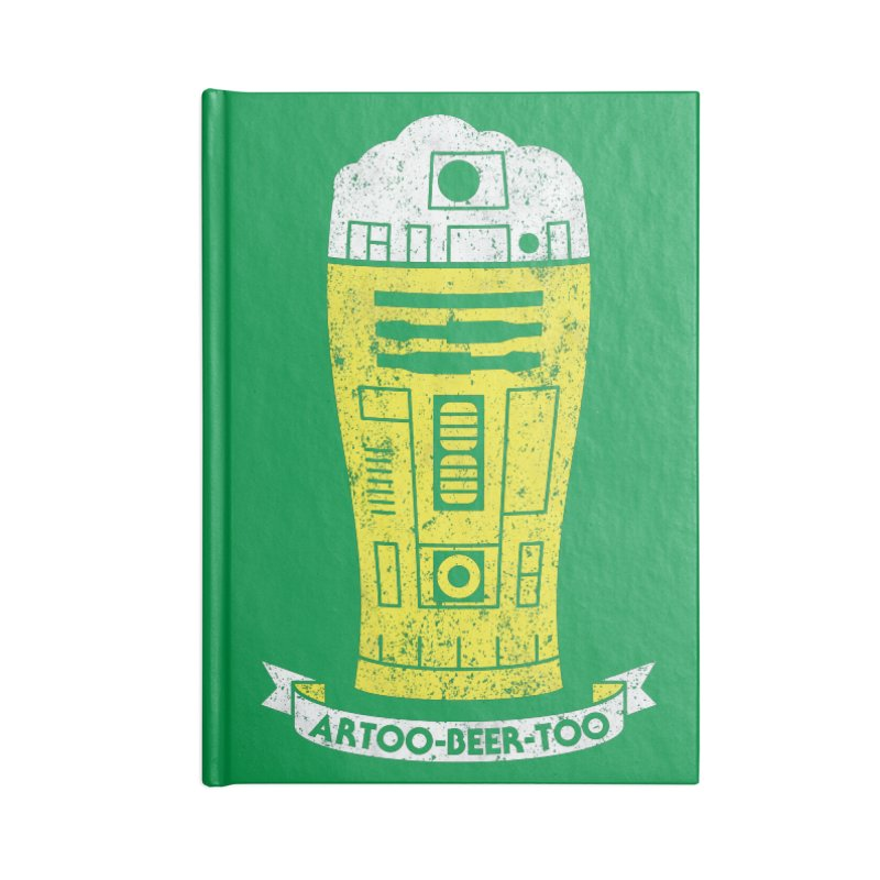 Artoo-Beer-Too Accessories Lined Journal Notebook by monsieurgordon's Artist Shop