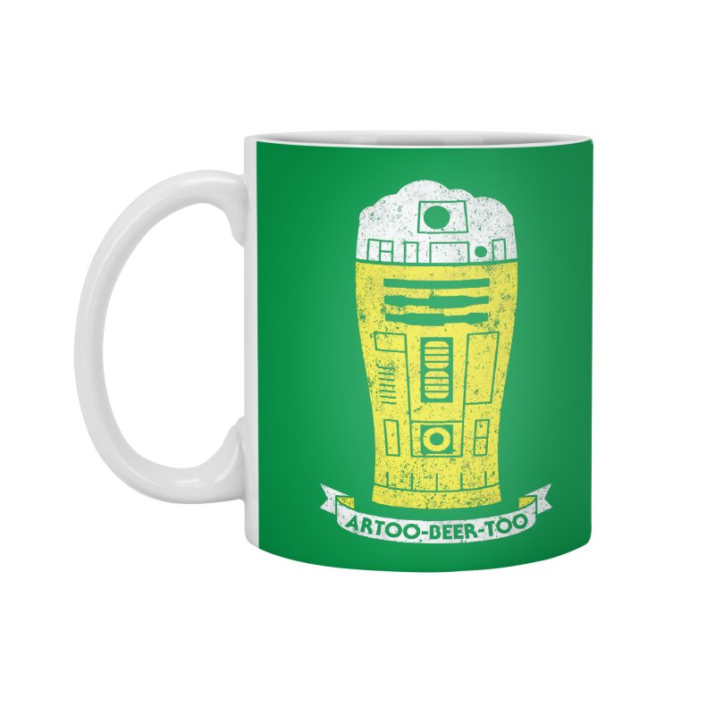 Artoo-Beer-Too Accessories Standard Mug by monsieurgordon's Artist Shop