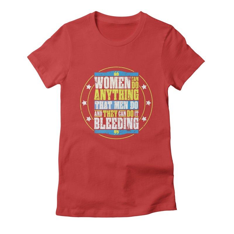 Bloody Women Women's Fitted T-Shirt by monsieurgordon's Artist Shop