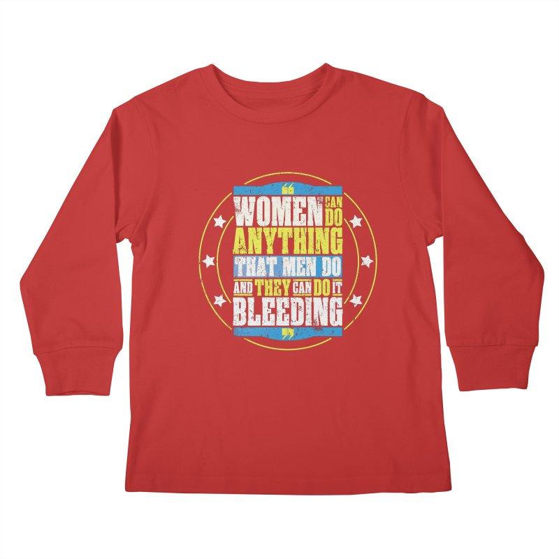 Bloody Women Kids Longsleeve T-Shirt by monsieurgordon's Artist Shop