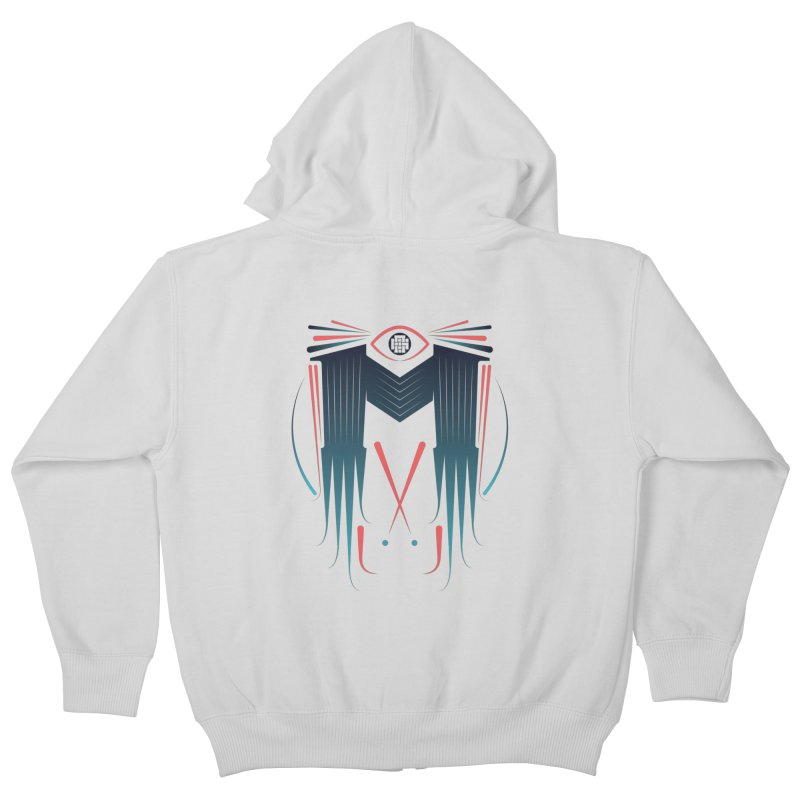 M Kids Zip-Up Hoody by monsieurgordon's Artist Shop