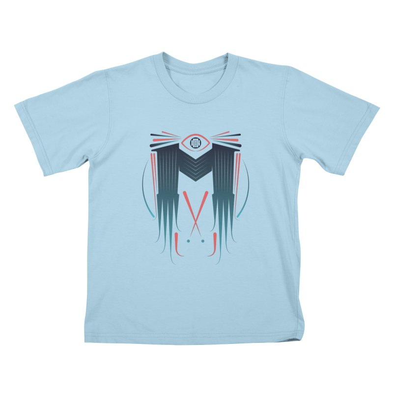 M Kids T-shirt by monsieurgordon's Artist Shop