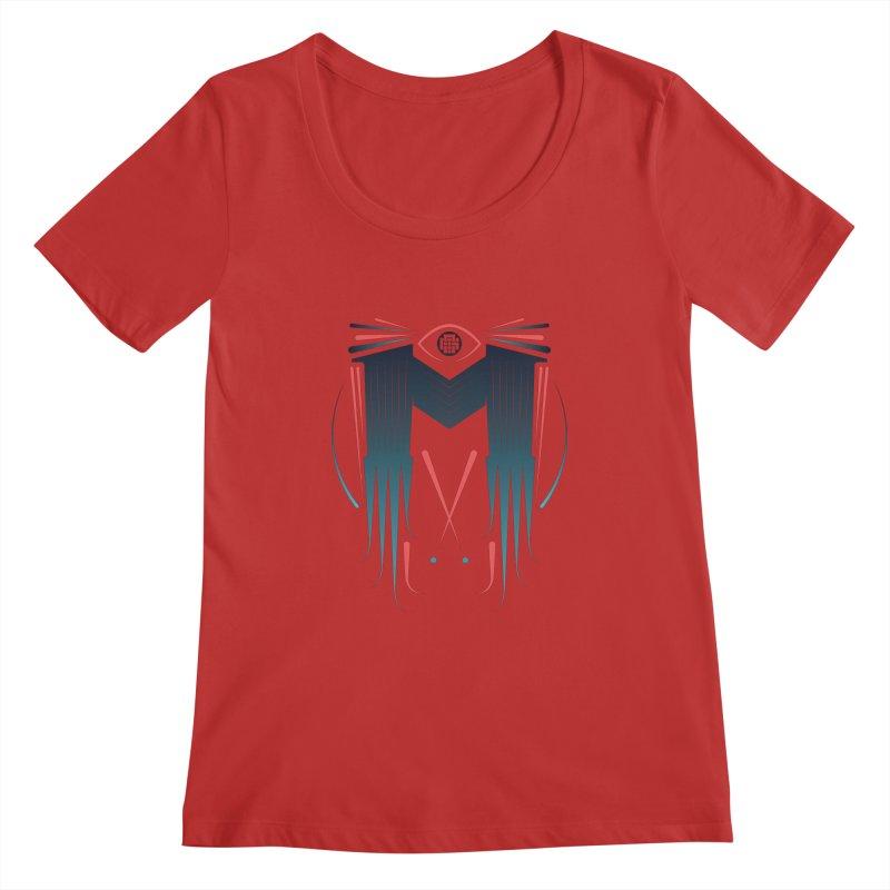 M Women's Scoopneck by monsieurgordon's Artist Shop