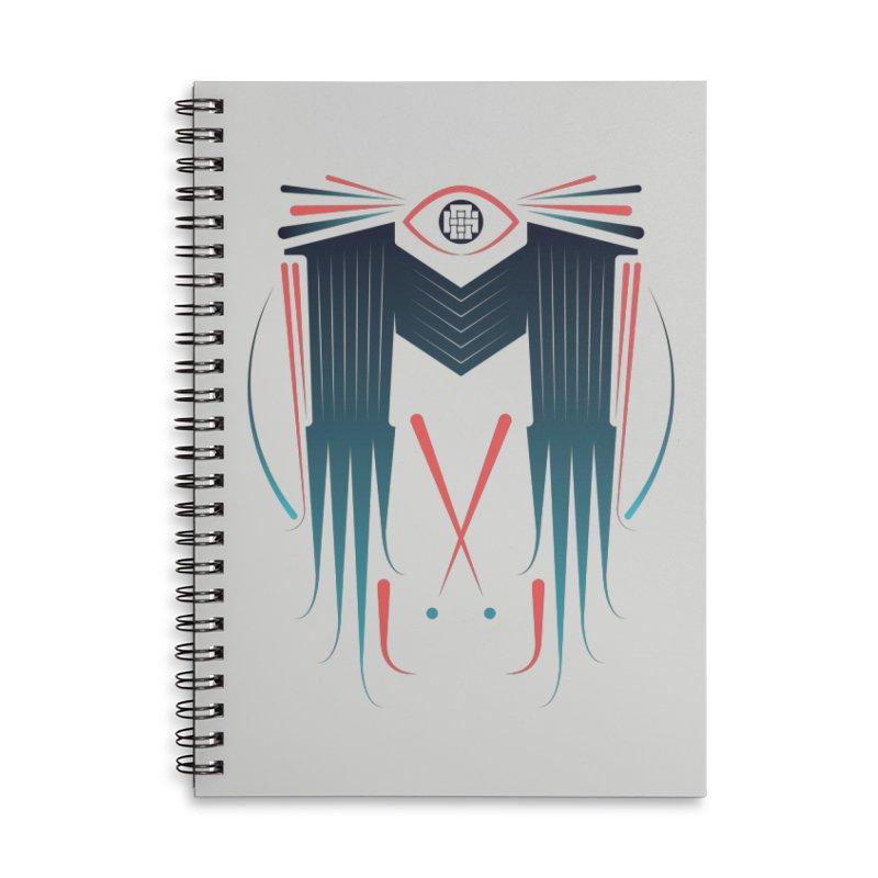 M Accessories Lined Spiral Notebook by monsieurgordon's Artist Shop