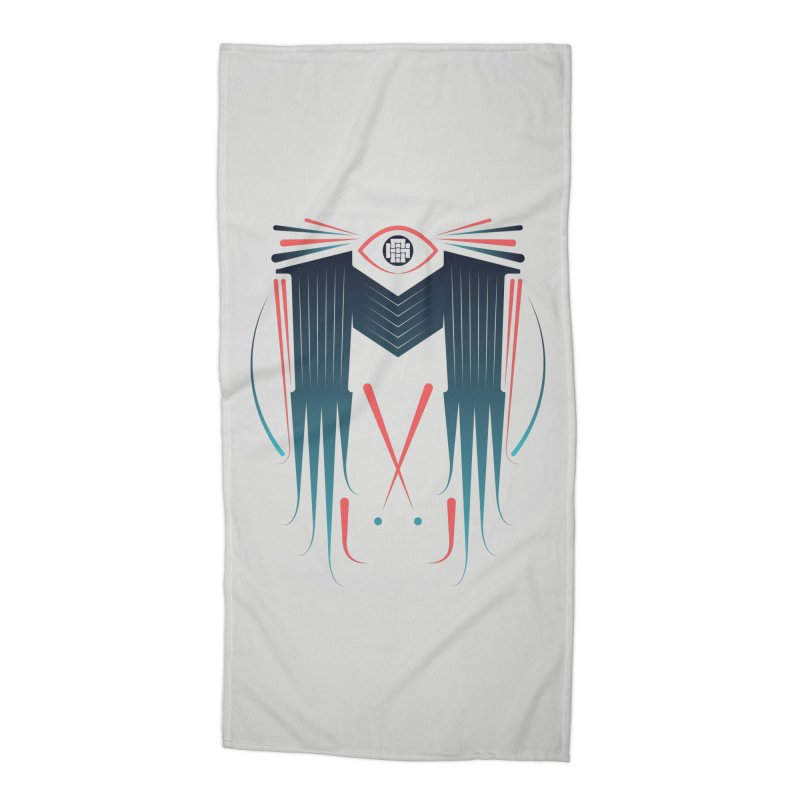 M Accessories Beach Towel by monsieurgordon's Artist Shop