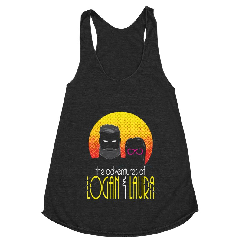 Logan & Laura Women's Racerback Triblend Tank by monsieurgordon's Artist Shop