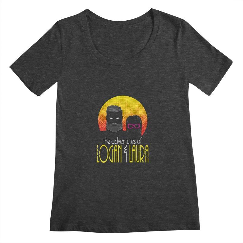 Logan & Laura Women's Scoopneck by monsieurgordon's Artist Shop