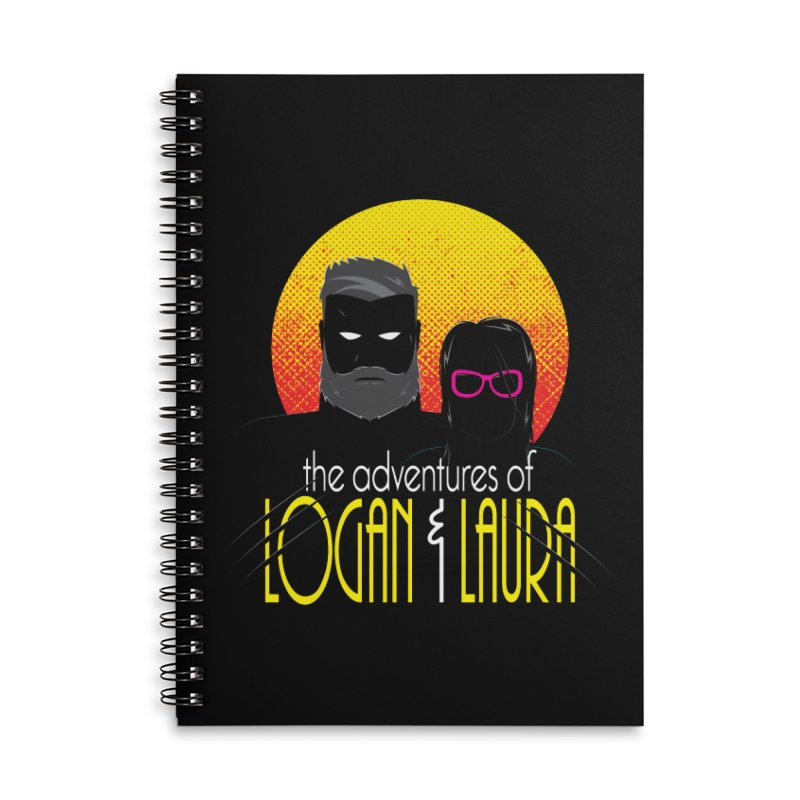 Logan & Laura Accessories Lined Spiral Notebook by monsieurgordon's Artist Shop