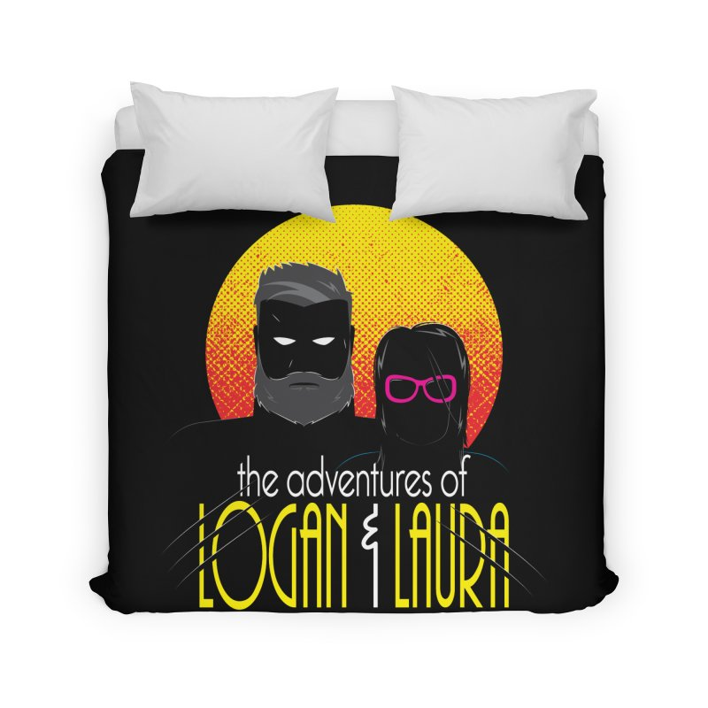 Logan & Laura Home Duvet by monsieurgordon's Artist Shop