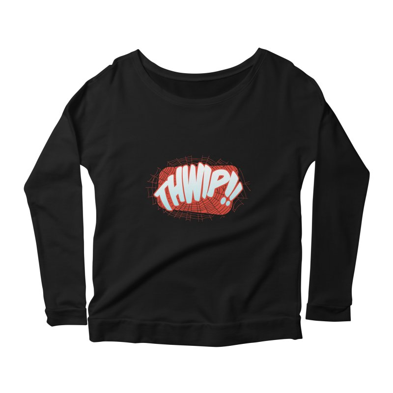 THWIP!! Women's Longsleeve Scoopneck  by monsieurgordon's Artist Shop