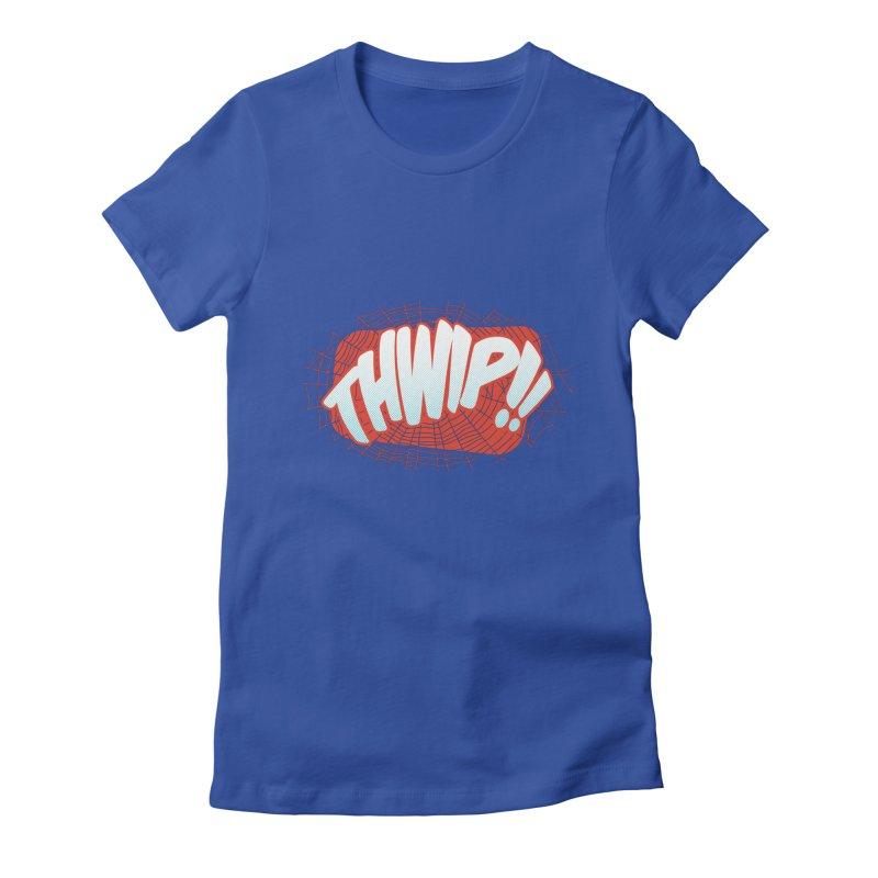 THWIP!! Women's Fitted T-Shirt by monsieurgordon's Artist Shop