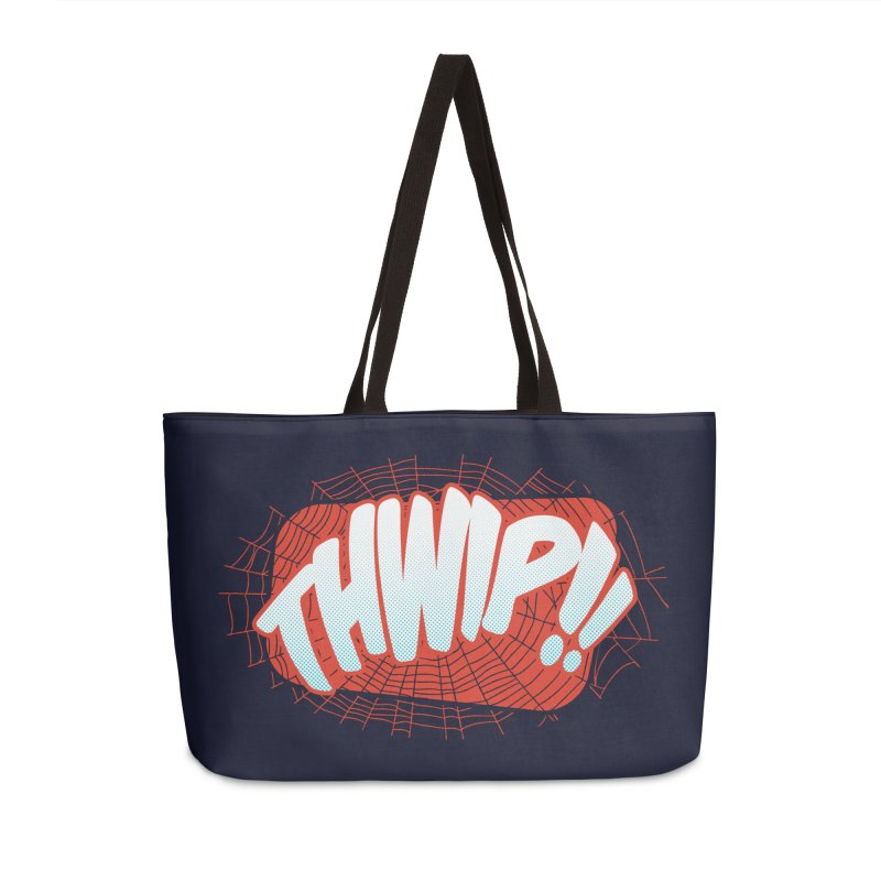 THWIP!! Accessories Weekender Bag Bag by monsieurgordon's Artist Shop