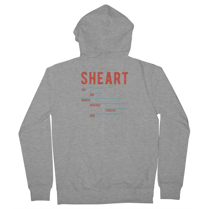 Shear Heart Attack Men's French Terry Zip-Up Hoody by monsieurgordon's Artist Shop