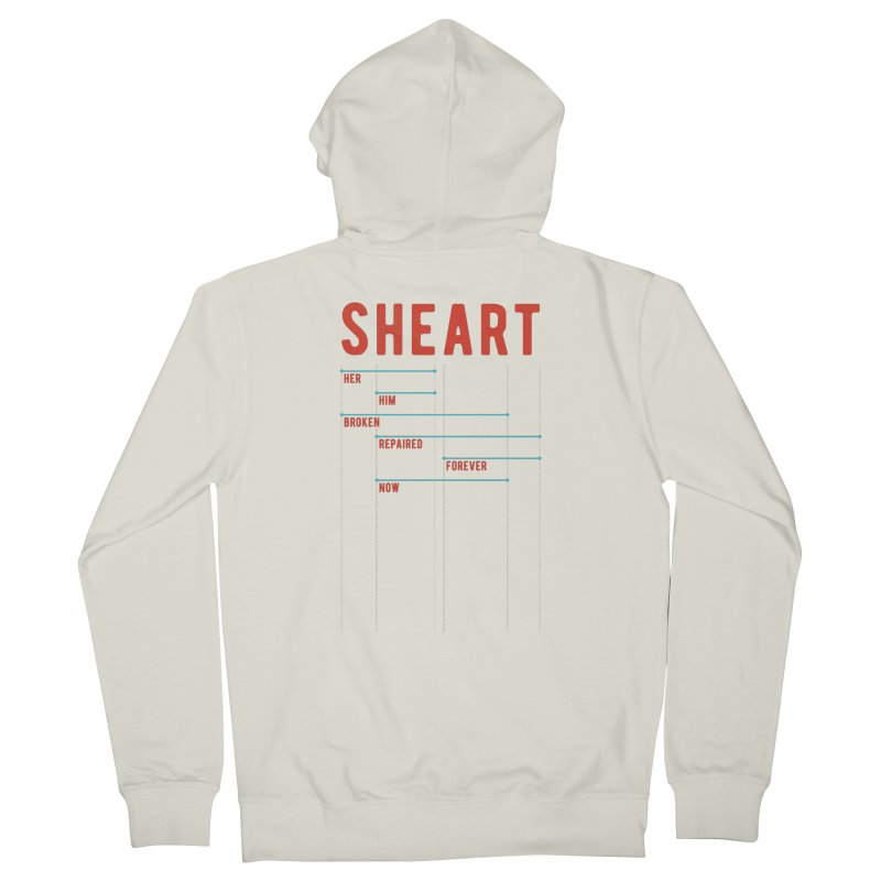 Shear Heart Attack Men's Zip-Up Hoody by monsieurgordon's Artist Shop