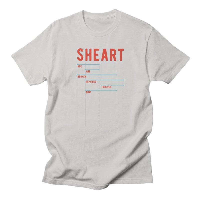 Shear Heart Attack Men's Regular T-Shirt by monsieurgordon's Artist Shop
