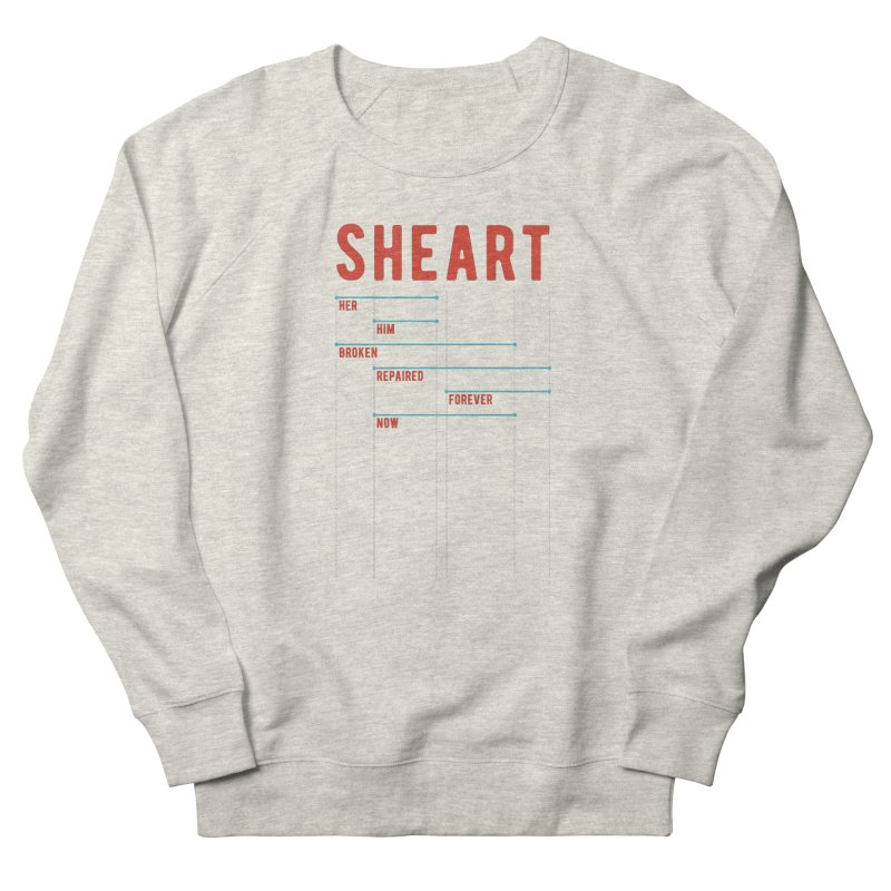 Shear Heart Attack Men's French Terry Sweatshirt by monsieurgordon's Artist Shop