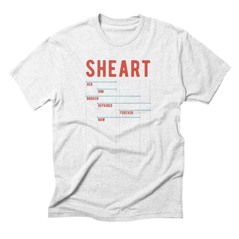 Shear Heart Attack Men's Triblend T-shirt by monsieurgordon's Artist Shop
