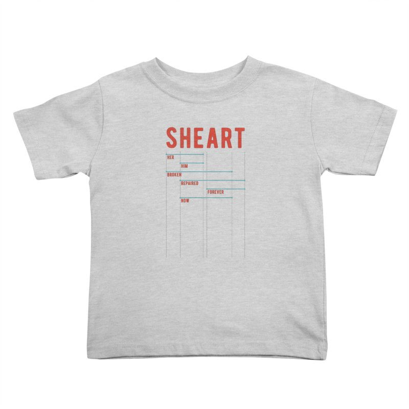Shear Heart Attack Kids Toddler T-Shirt by monsieurgordon's Artist Shop