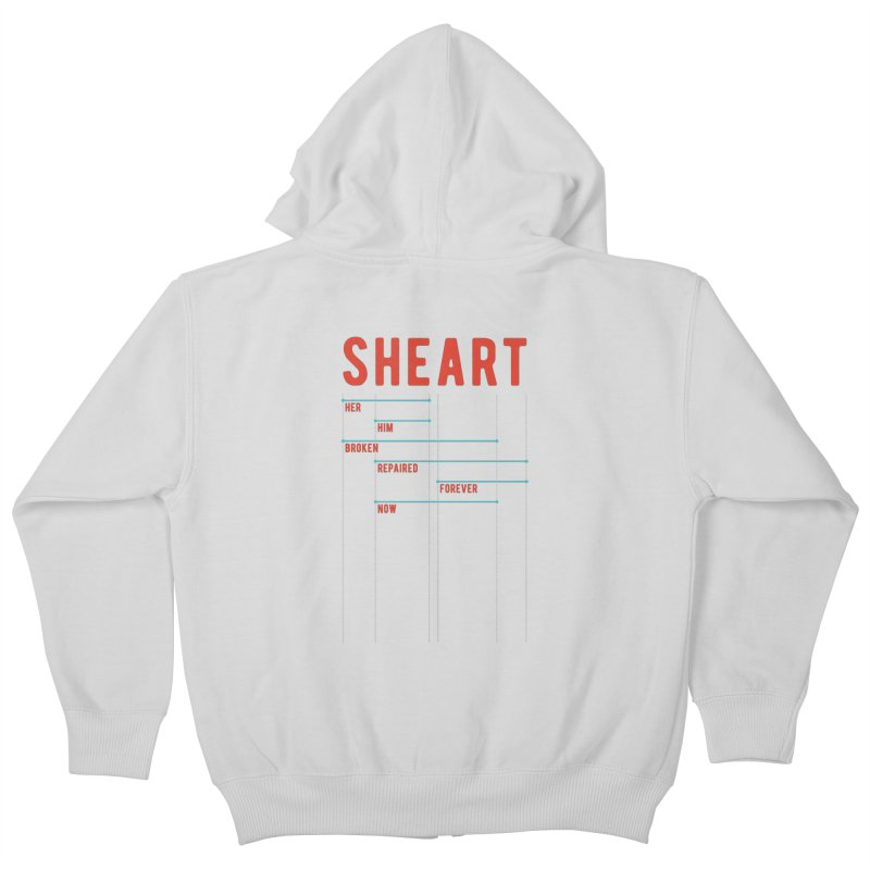 Shear Heart Attack Kids Zip-Up Hoody by monsieurgordon's Artist Shop