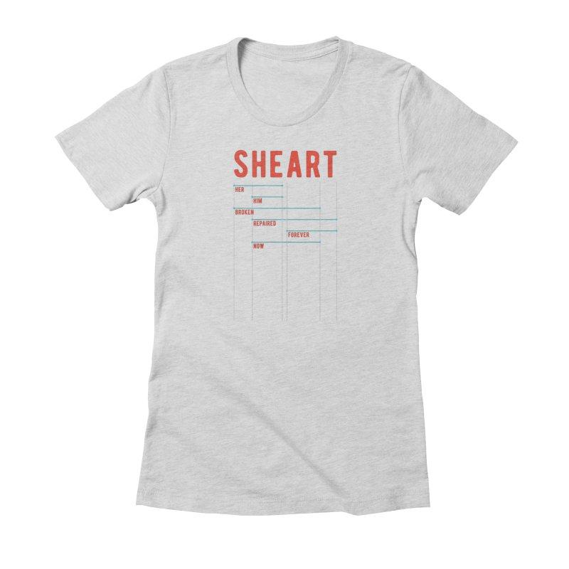 Shear Heart Attack Women's T-Shirt by monsieurgordon's Artist Shop