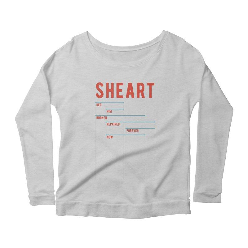 Shear Heart Attack Women's Longsleeve Scoopneck  by monsieurgordon's Artist Shop