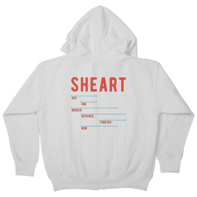 Shear Heart Attack Kids Zip-Up Hoody by monsieurgordon's Artist Shop