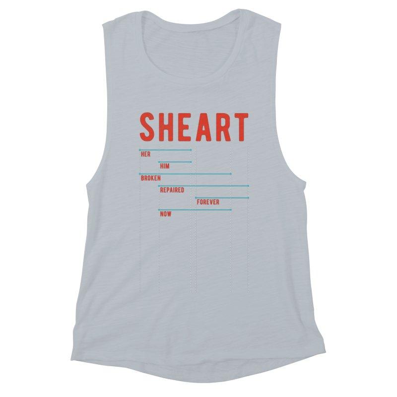 Shear Heart Attack Women's Muscle Tank by monsieurgordon's Artist Shop