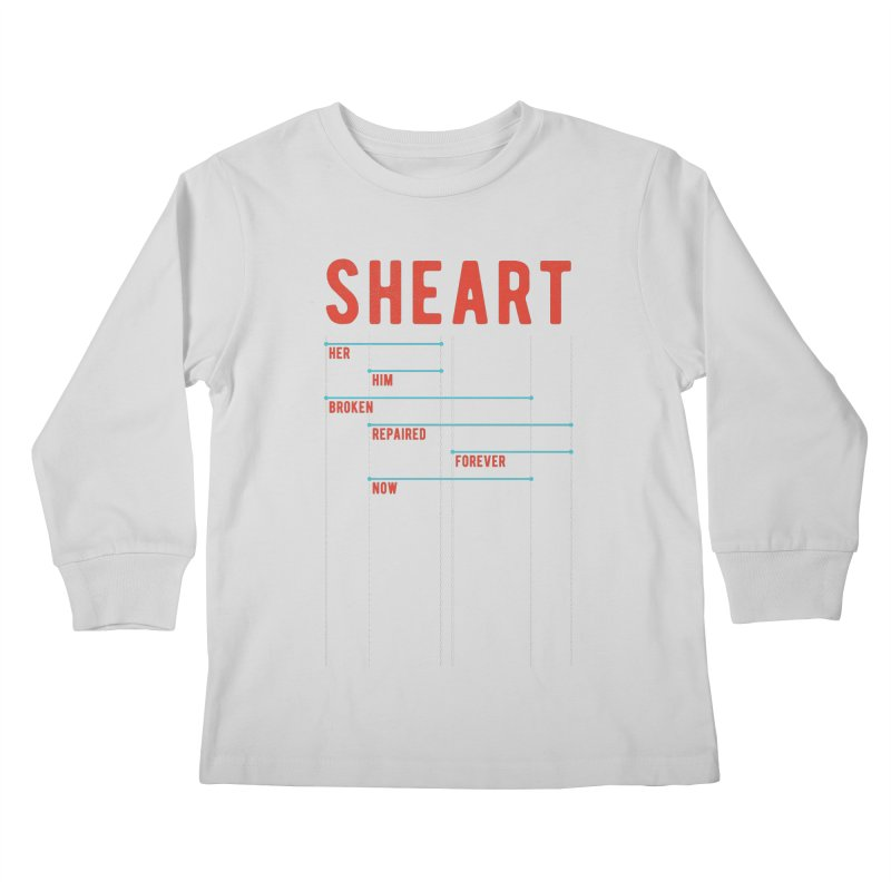 Shear Heart Attack Kids Longsleeve T-Shirt by monsieurgordon's Artist Shop