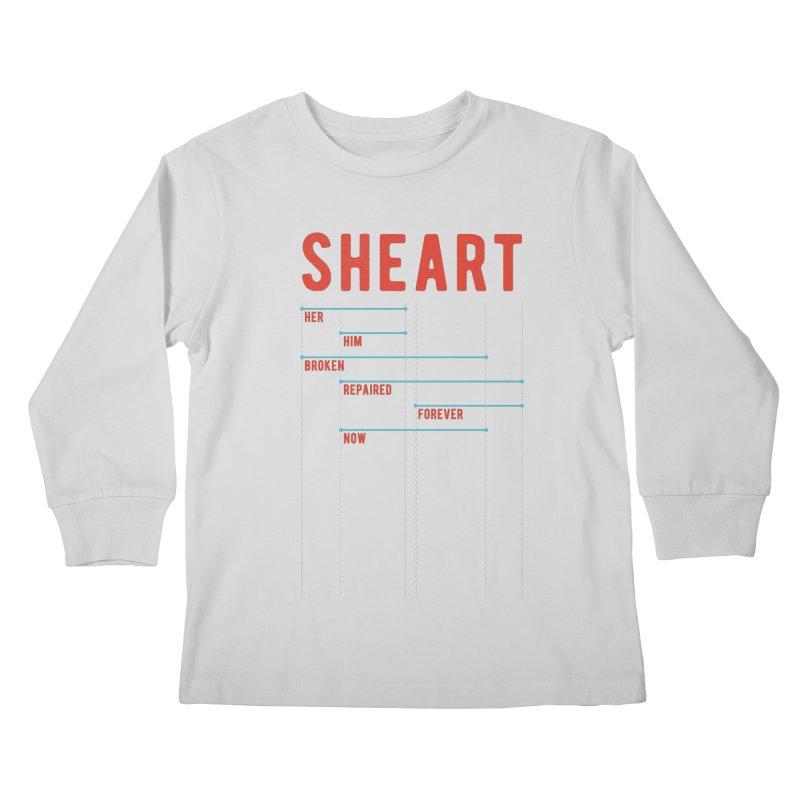 Shear Heart Attack Kids Longsleeve T-Shirt by monsieurgordon's Artist Shop