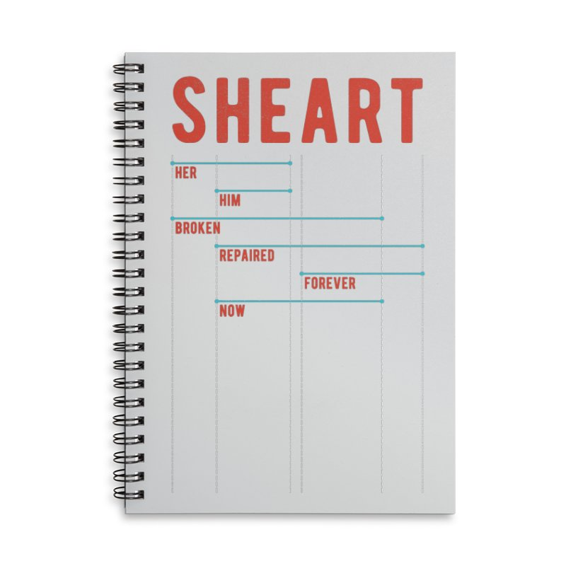 Shear Heart Attack Accessories Lined Spiral Notebook by monsieurgordon's Artist Shop