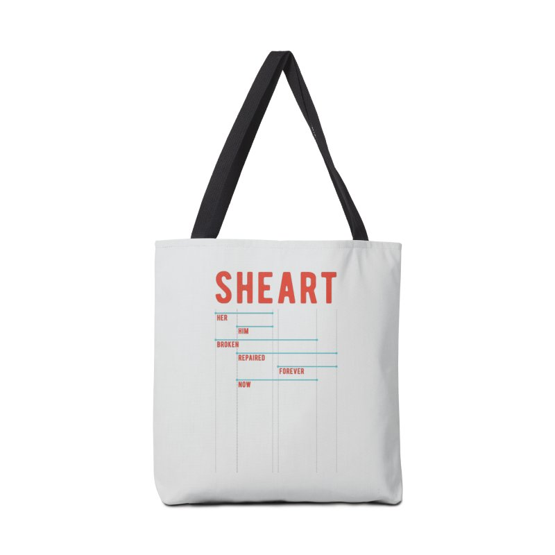 Shear Heart Attack Accessories Tote Bag Bag by monsieurgordon's Artist Shop