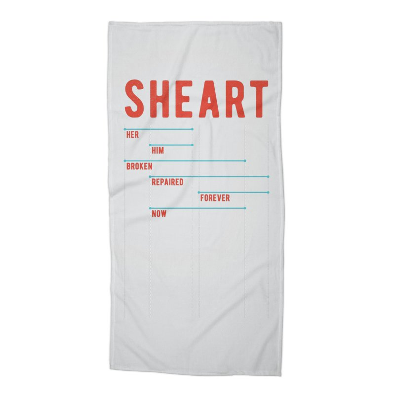 Shear Heart Attack Accessories Beach Towel by monsieurgordon's Artist Shop