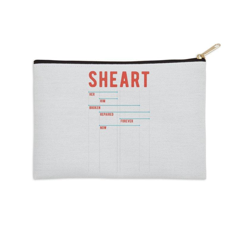Shear Heart Attack Accessories Zip Pouch by monsieurgordon's Artist Shop