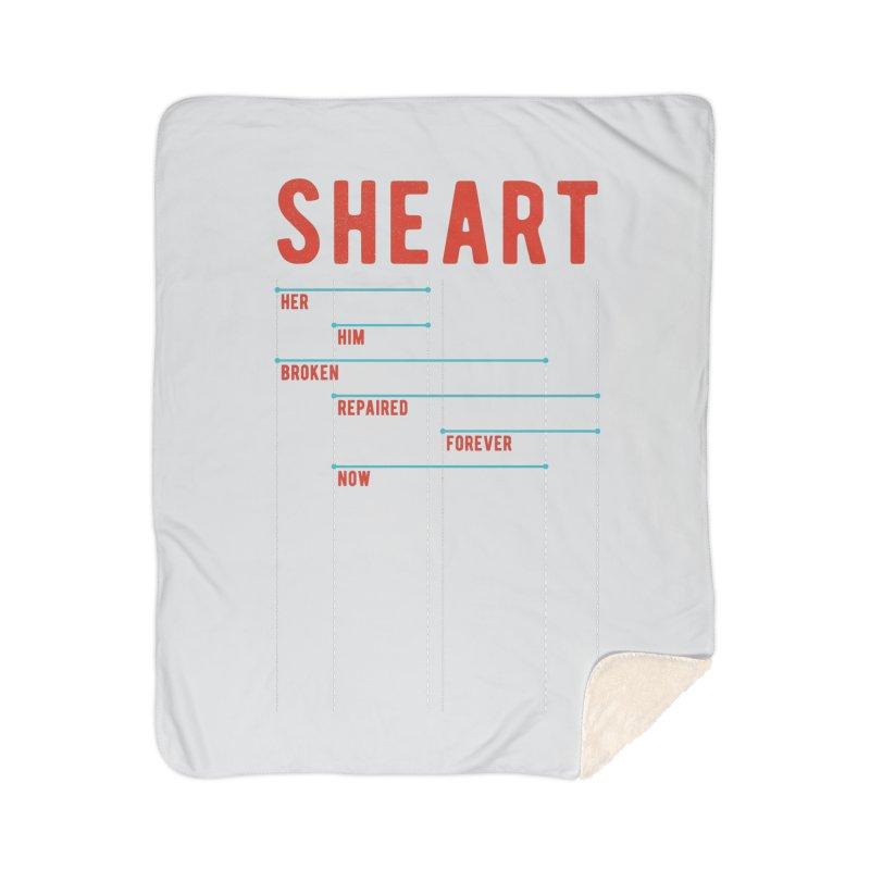 Shear Heart Attack Home Sherpa Blanket Blanket by monsieurgordon's Artist Shop