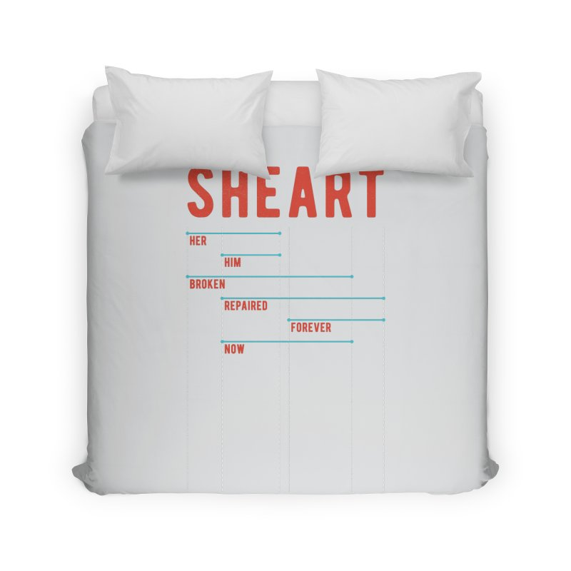 Shear Heart Attack Home Duvet by monsieurgordon's Artist Shop
