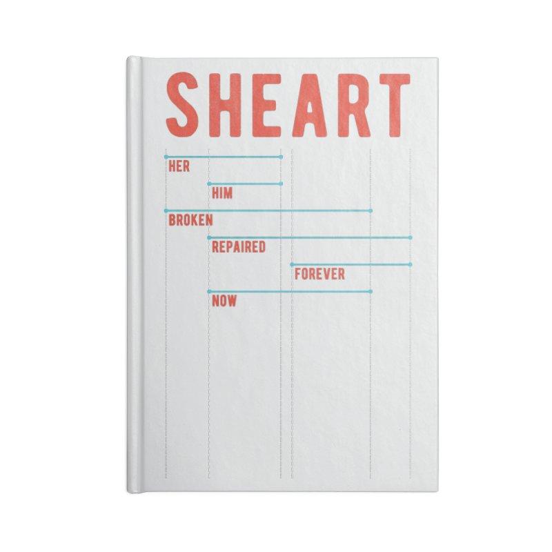 Shear Heart Attack Accessories Notebook by monsieurgordon's Artist Shop