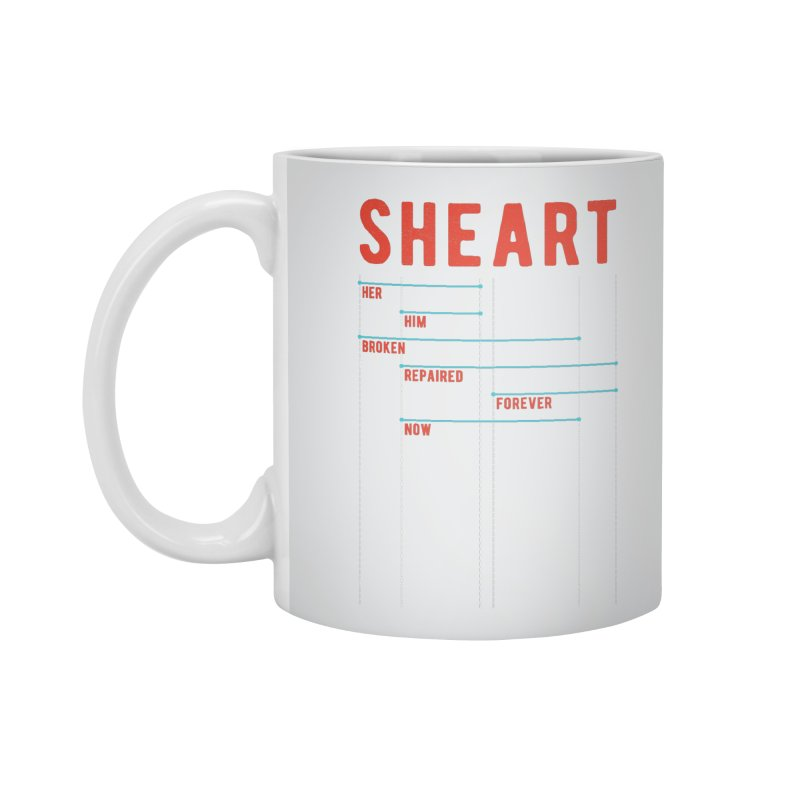 Shear Heart Attack Accessories Mug by monsieurgordon's Artist Shop