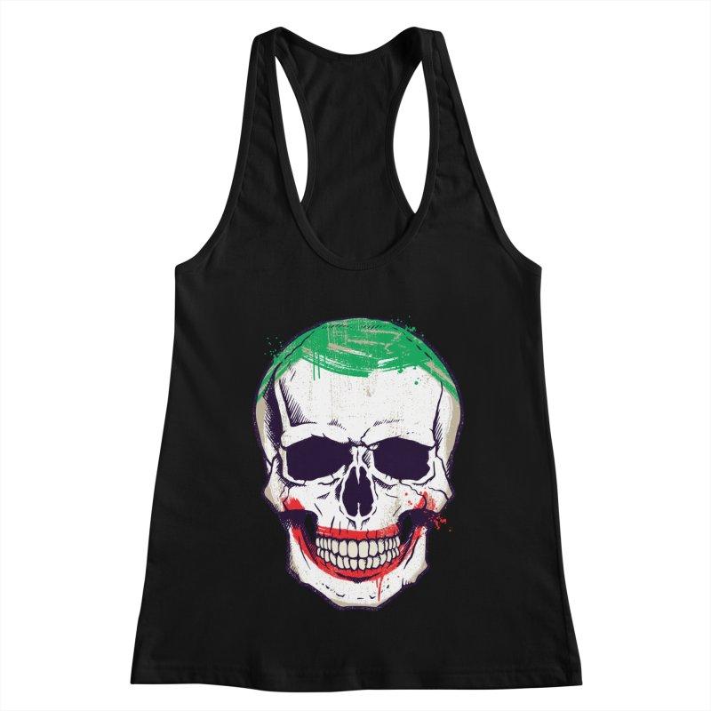 Joke's On You, Death! Women's Racerback Tank by monsieurgordon's Artist Shop