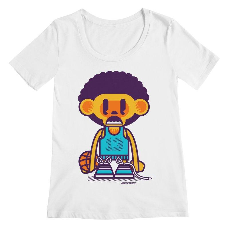 Ghetto Ape Women's Scoopneck by Monster Squad Shop