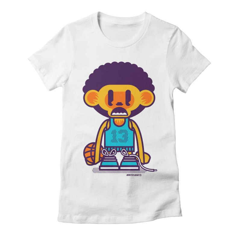 Ghetto Ape Women's Fitted T-Shirt by Monster Squad Shop