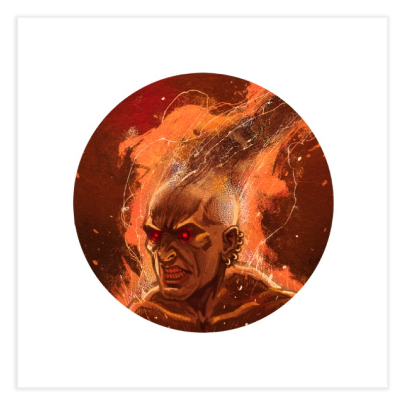 Ifrit! Home Fine Art Print by Monstercakes's Artist Shop