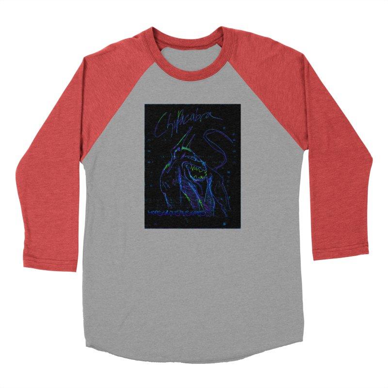 The Chupacabra2! Women's Baseball Triblend Longsleeve T-Shirt by Monstrous Customs
