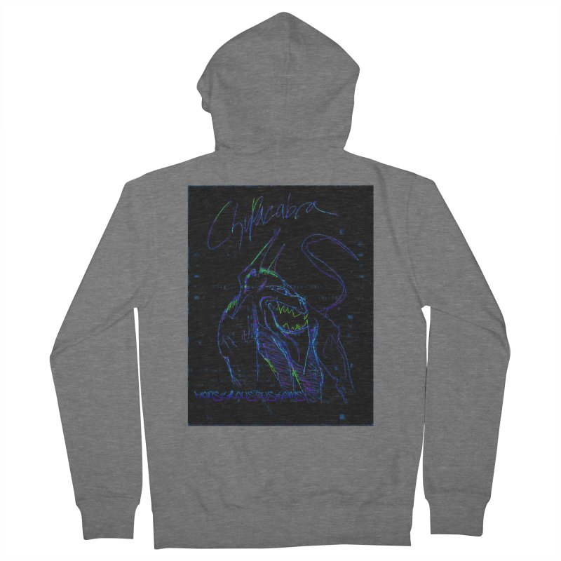 The Chupacabra2! Women's French Terry Zip-Up Hoody by Monstrous Customs