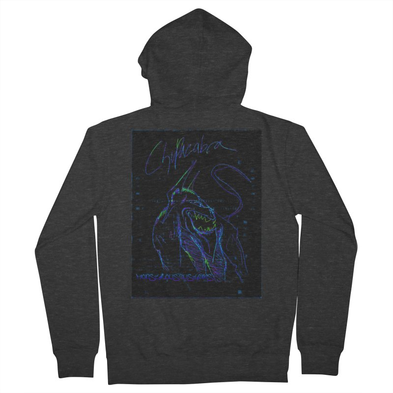 The Chupacabra2! Men's French Terry Zip-Up Hoody by Monstrous Customs