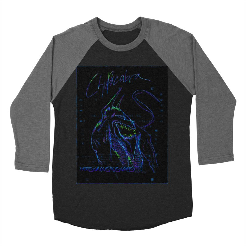 The Chupacabra2! Women's Baseball Triblend T-Shirt by Monstrous Customs