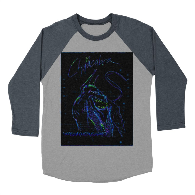 The Chupacabra2! Women's Baseball Triblend Longsleeve T-Shirt by Monstrous Customs