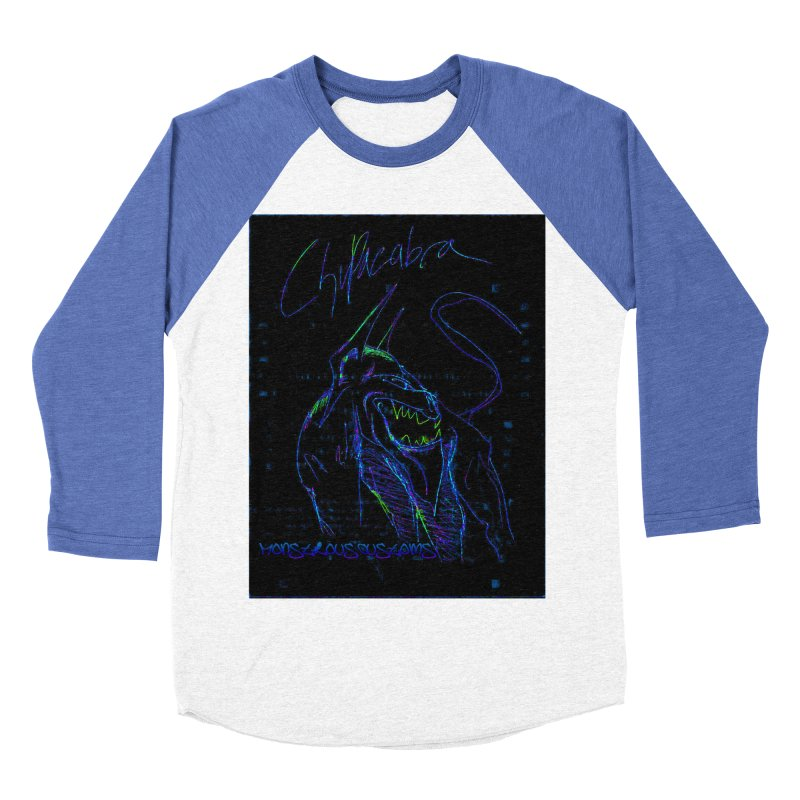 The Chupacabra2! Men's Baseball Triblend Longsleeve T-Shirt by Monstrous Customs