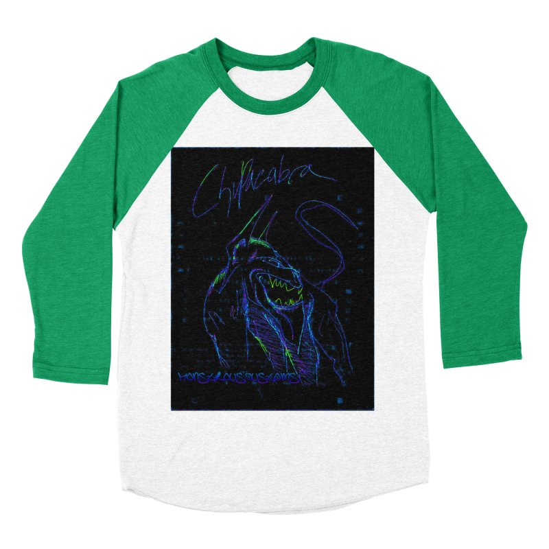 The Chupacabra2! Men's Baseball Triblend Longsleeve T-Shirt by Monstrous Customs