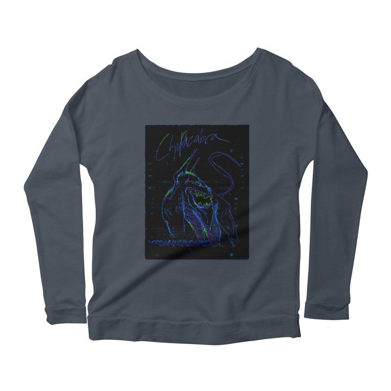The Chupacabra2! Women's Scoop Neck Longsleeve T-Shirt by Monstrous Customs